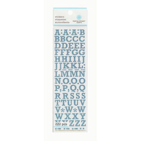 Small Blue Glitter Alphabet Stickers _41-11022