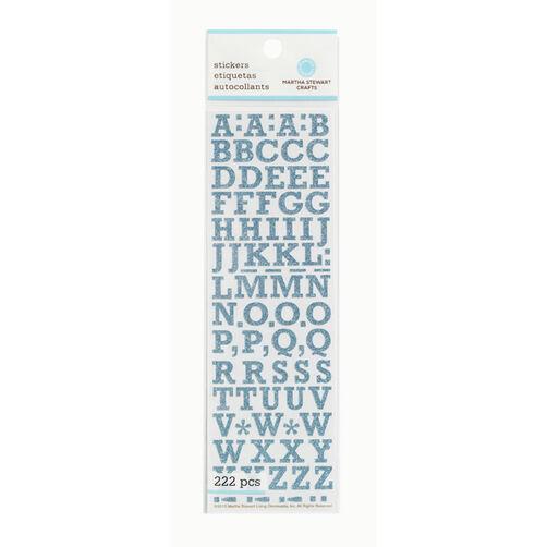 Small Blue Glitter Alphabet Stickers _41-11022