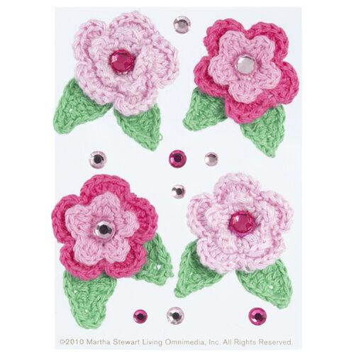 Crochet Flower Gemstone Embellishment_41-00157