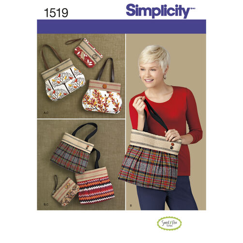 Simplicity Pattern 1519 Bags and Clutch