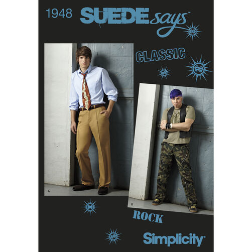 Simplicity Pattern 1948 Men's Pants SUEDEsays Collection