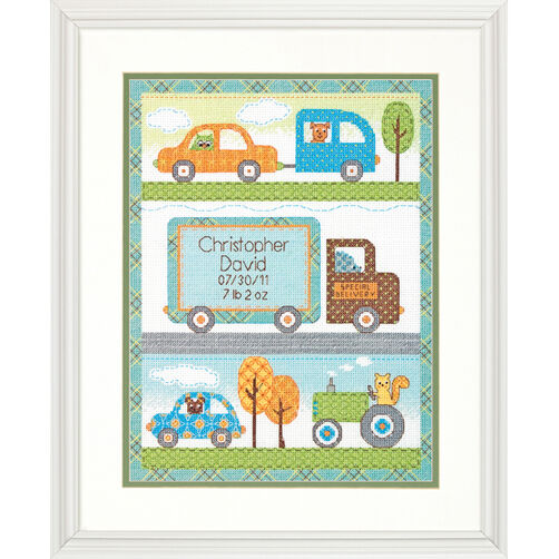 Happi Transport Birth Record, Counted Cross Stitch_70-73561