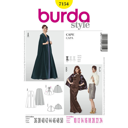 Burda Style Pattern 7154 Cape
