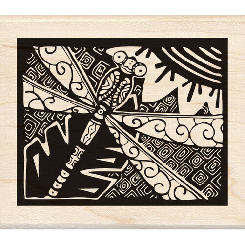 Dragonfly Wood Stamp_60-00970