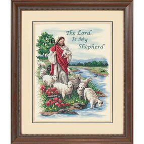 The Lord is My Shepherd, Stamped Cross Stitch_03222