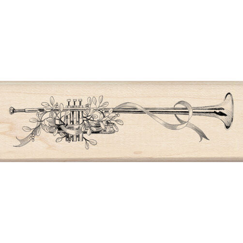 Herald Trumpet Wood Stamp_60-00702