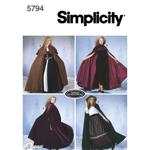 Simplicity Pattern 5794 Misses' Capes