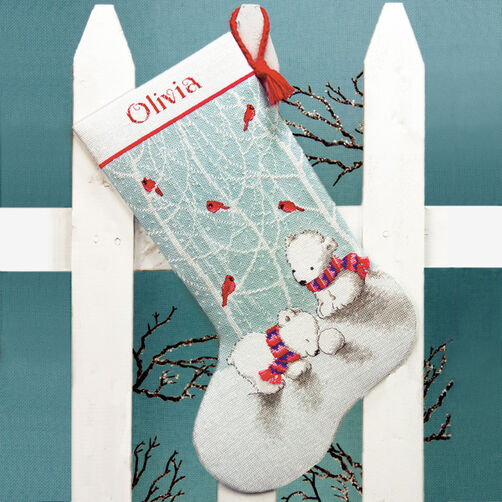 Snow Bears Stocking in Counted Cross Stitch_70-08902