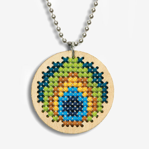 Peacock Pendant Counted Cross Stitch Kit_72-74067