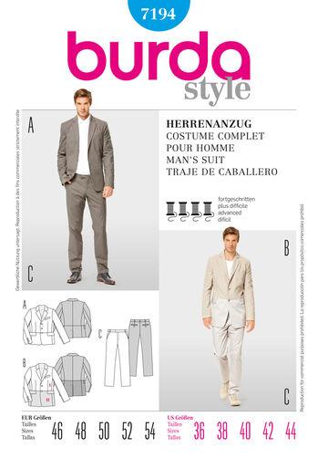 Burda Style Man's Suit