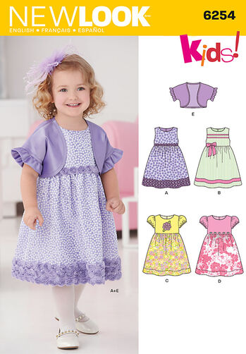 Toddlers' Dress and Bolero