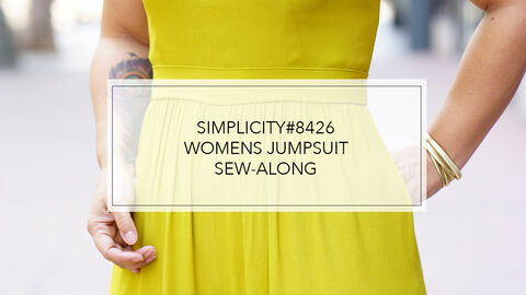 Mimi G Simplicity Pattern 8426 Sew-Along for Jumpsuit