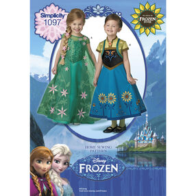 Simplicity Pattern 1097 Disney Frozen Fever Costumes for Children