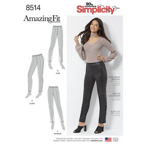 Simplicity Pattern 8514 Misses'/Petite Amazing Fit Skinny Pants