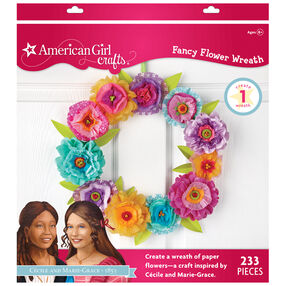 Fancy Paper Flower Wreath Kit by Marie- Grace & Ceclia_30-662100