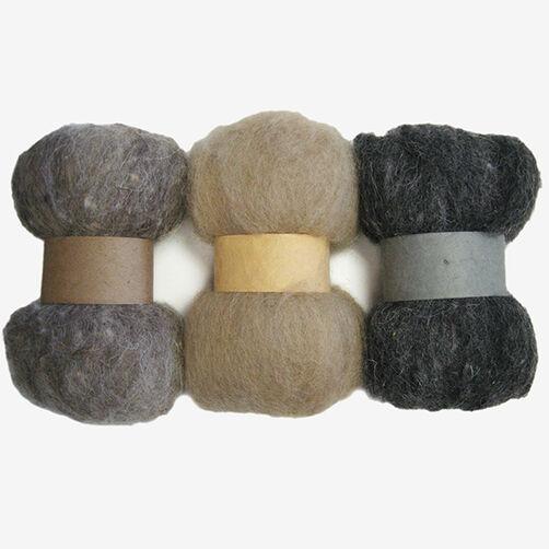 Neutrals Wool Roving Trio, Needle Felting_72-74018