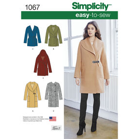 Simplicity Pattern 1067 Misses' Easy-To-Sew Jacket or Coat