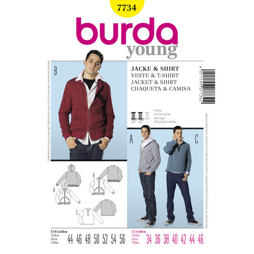 Burda Style Pattern 7734 Jacket & Shirt