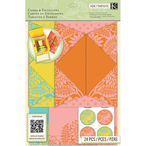 K&Company Beyond Postmarks Letterpress Folded Cards & Envelopes_30-658127