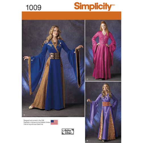 Pattern For Misses Fantasy Costumes Simplicity