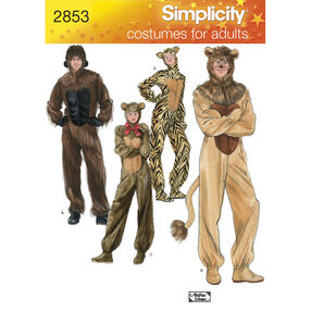 Simplicity Pattern 2853 Adult Animal Costumes