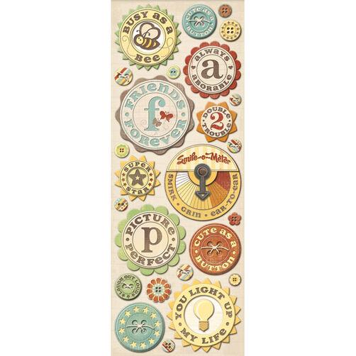 Wild Saffron Buttons Adhesive Chipboard_566491
