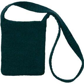Black Wool Felt Shoulder Bag_73339