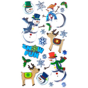 Roly-Poly Snowmen Stickers_52-20195