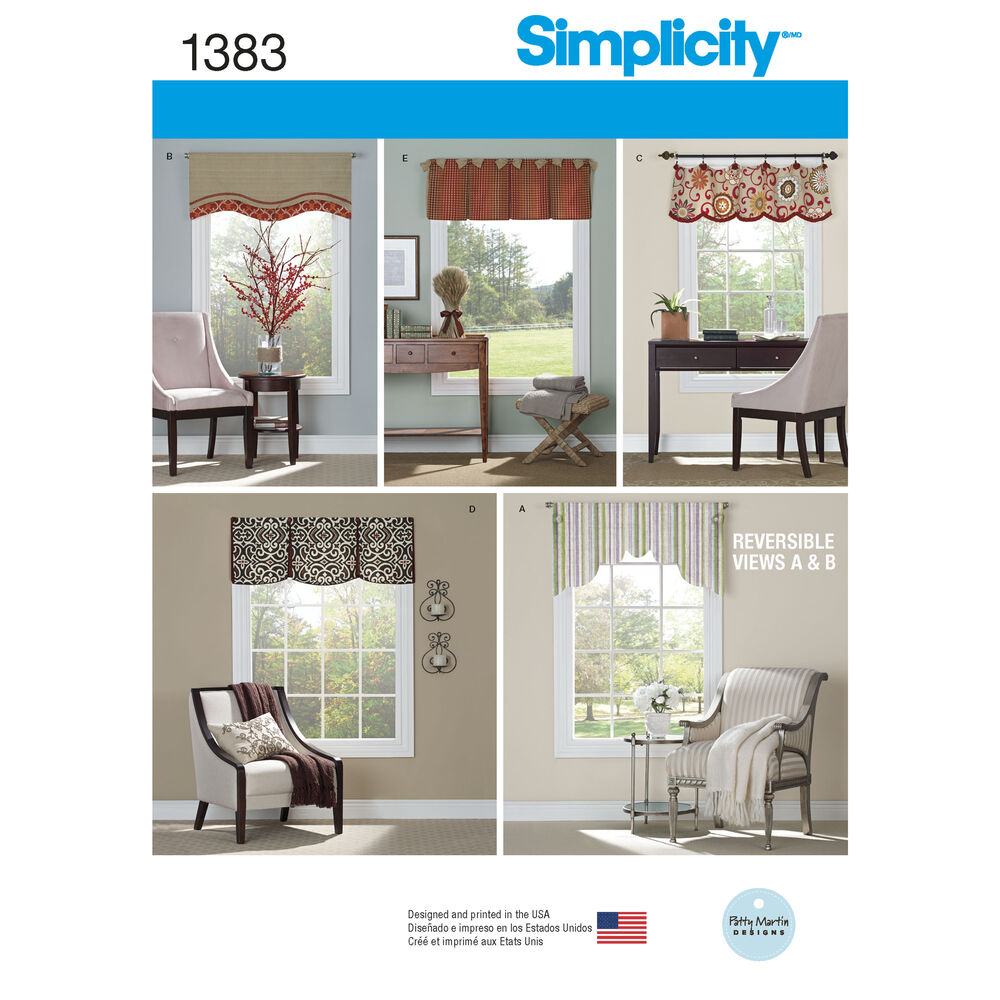 Pattern For Valances For 36 Quot To 40 Quot Wide Windows Simplicity