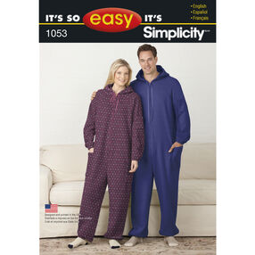 It's So Easy Pattern 1053 Fleece Jumpsuit for Teens' and Adults'