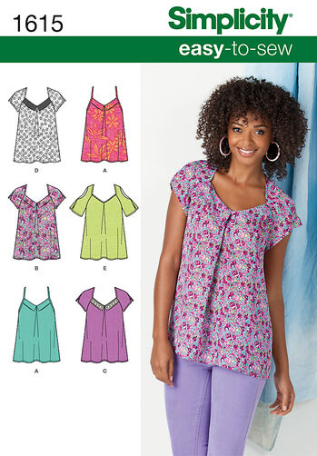Misses' Easy To Sew Tops