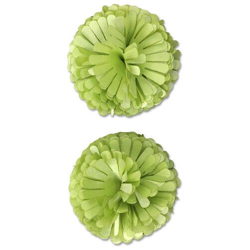 Light Green Pompom Flower Embellishments_50-60302
