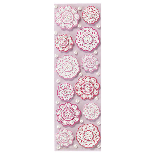 Layered Doily Flower Stickers_41-00152