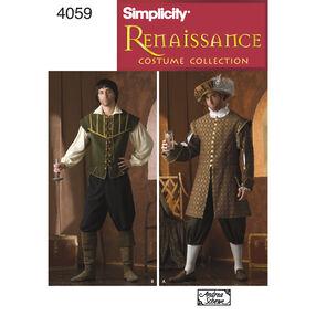 Simplicity Pattern 4059 Men's Renaissance Costumes