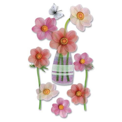 Vellum pink Flower Stickers_SPJV012