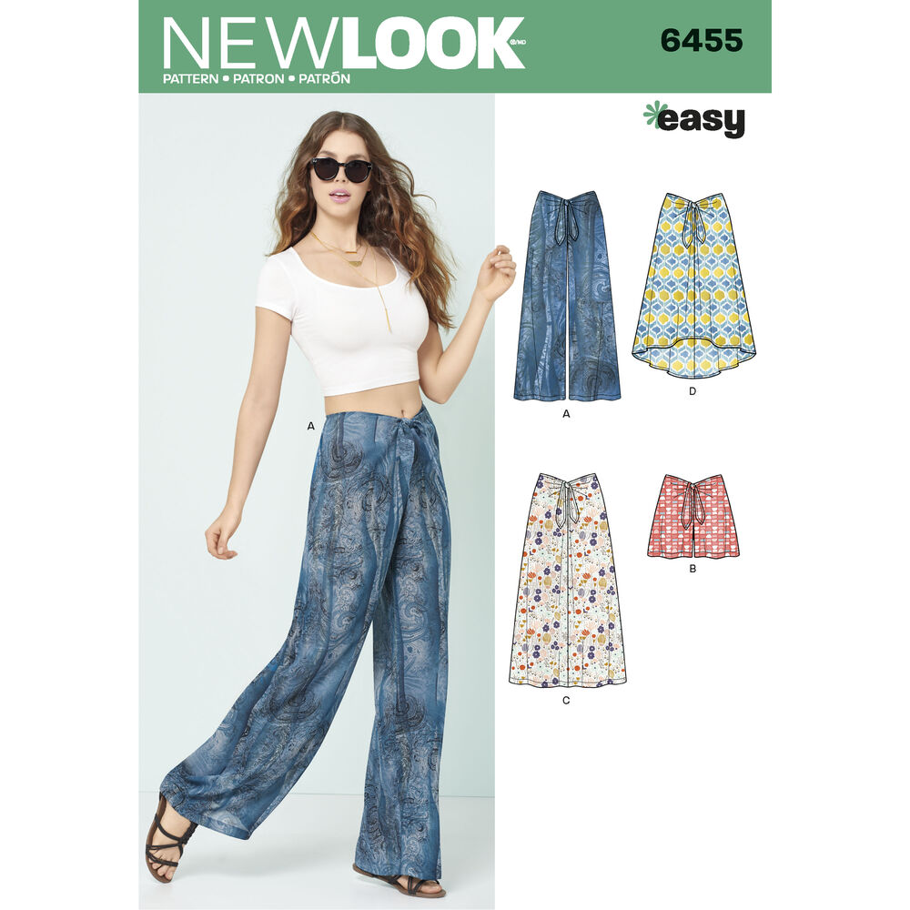6455 Misses Tie Front Pants Shorts And Skirts