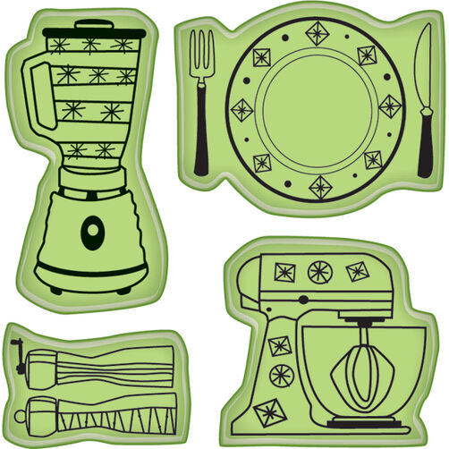 Kitchen Icons Mini Cling Stamps_60-60226