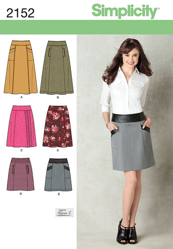 Simplicity Pattern 2152 Misses' Skirts
