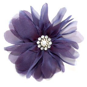 Purple Billow Bloom Pin & Clip Flower_56-63002