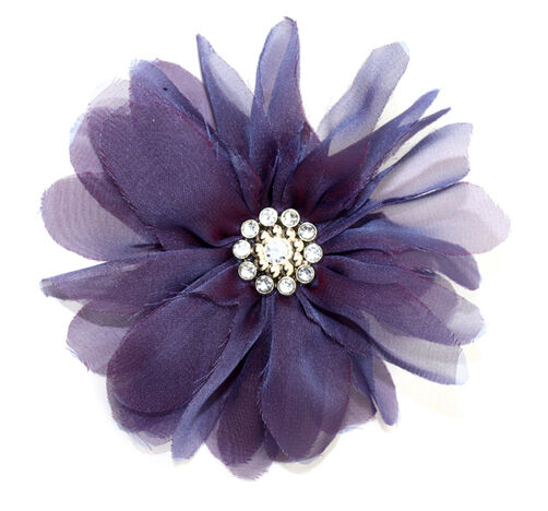 Purple Billow Bloom Pin & Clip Flower_56-63002