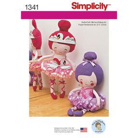 "Simplicity Pattern 1341 22-1/2"" Stuffed Ballerina Doll"