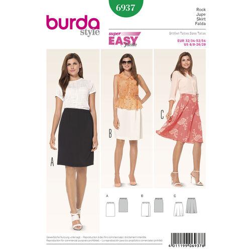 Burda Style Pattern 6937 Skirts
