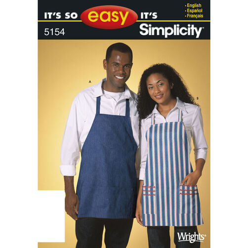 It's So Easy Pattern 5154 Miss & Men Aprons
