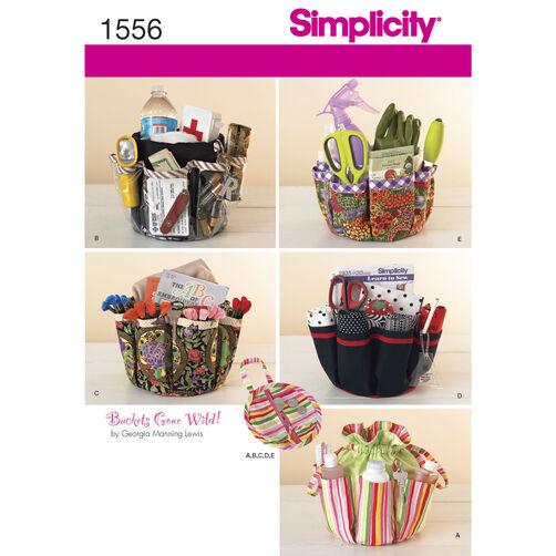 Simplicity Pattern 1556 Drawstring Organizer