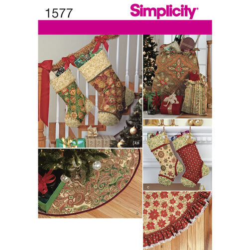 Simplicity Pattern 1577 Holiday Décor