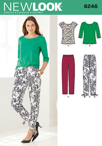 Misses' Tapered Ankle Pant and Knit Top