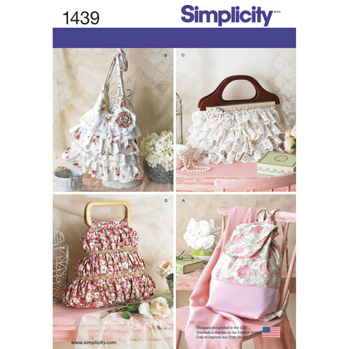 Simplicity Pattern 1439 Bags in Four Different Styles