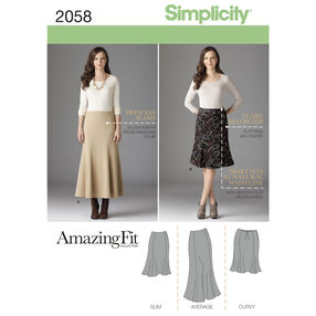 Simplicity Pattern 2058 Misses' & Plus Size Amazing Fit Skirt