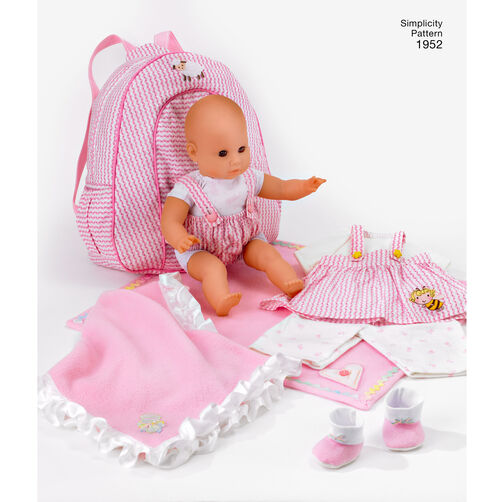 Pattern For Doll Clothes Amp Accessories Simplicity