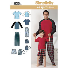 Simplicity Pattern 1605 Boys' & Men's Loungewear